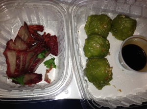 Roast Pork and Dumplings @ My desk (ordered from Pure Thai Cookhouse)
