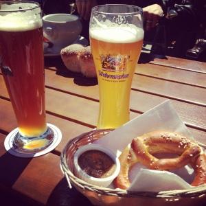 Weisse Beer and Pretzel @ Zum Schneider